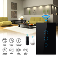 Alexa Voice Control Waterproof Rf Automatic Turn Off Led Glass Touch Screen Wall Wireless Smart Wifi Light Electrical Switch