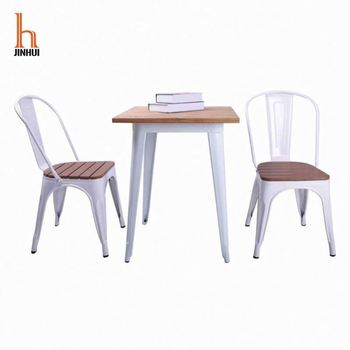 Cheap Metal Dining Chair With Metal Legs Factory Supplier