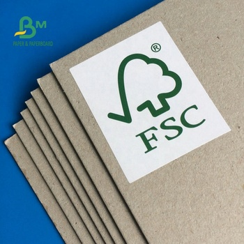 Newly FSC Certificate High Stiffness Grey Chipboard For Making Hardcover Box