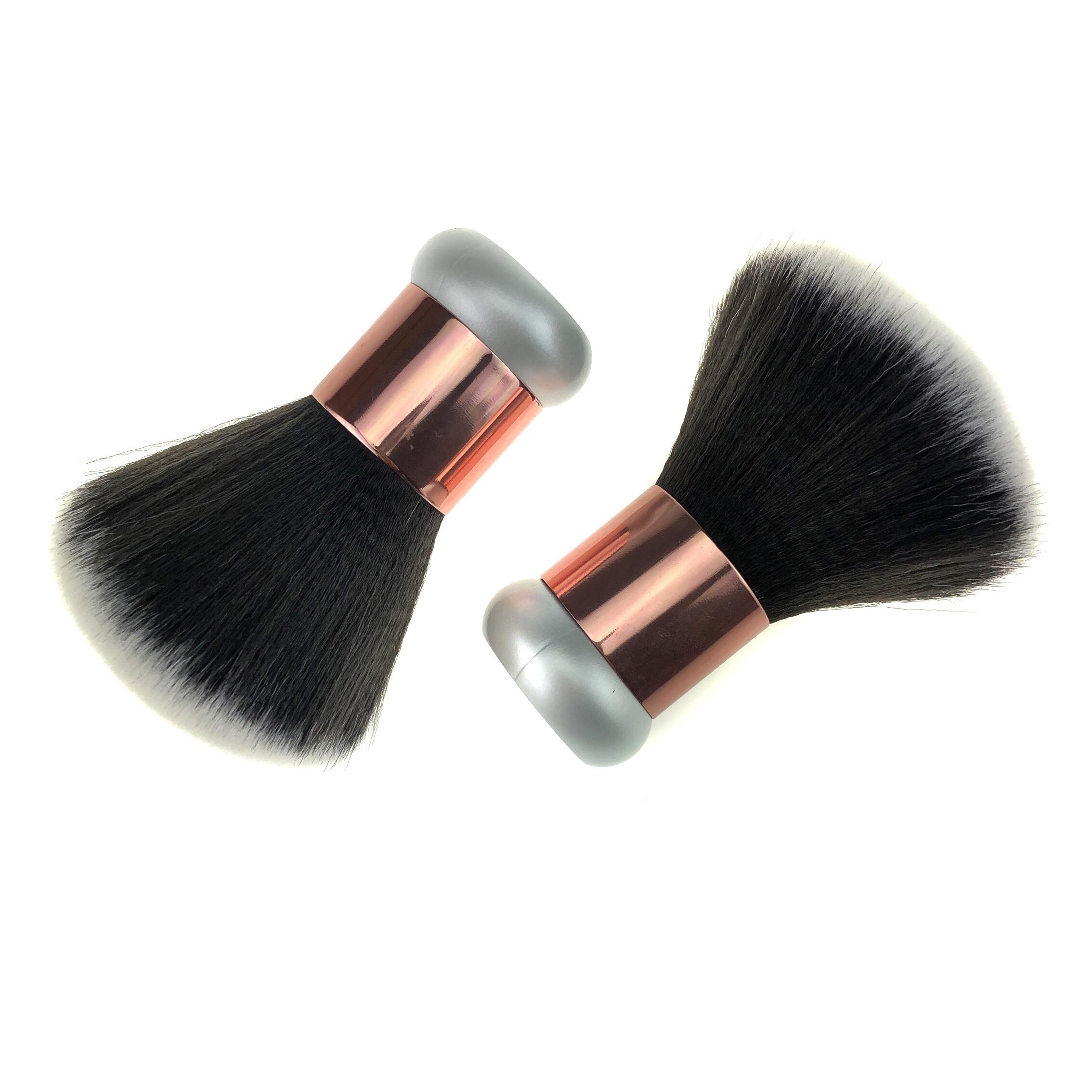 Fluffy high quality synthetic hair makeup pro rose gold kabuki brush