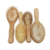 Wood Natural Color Customized Selling Boar Bristle Bush Baby Brushes Batural Wooden Hair Brush