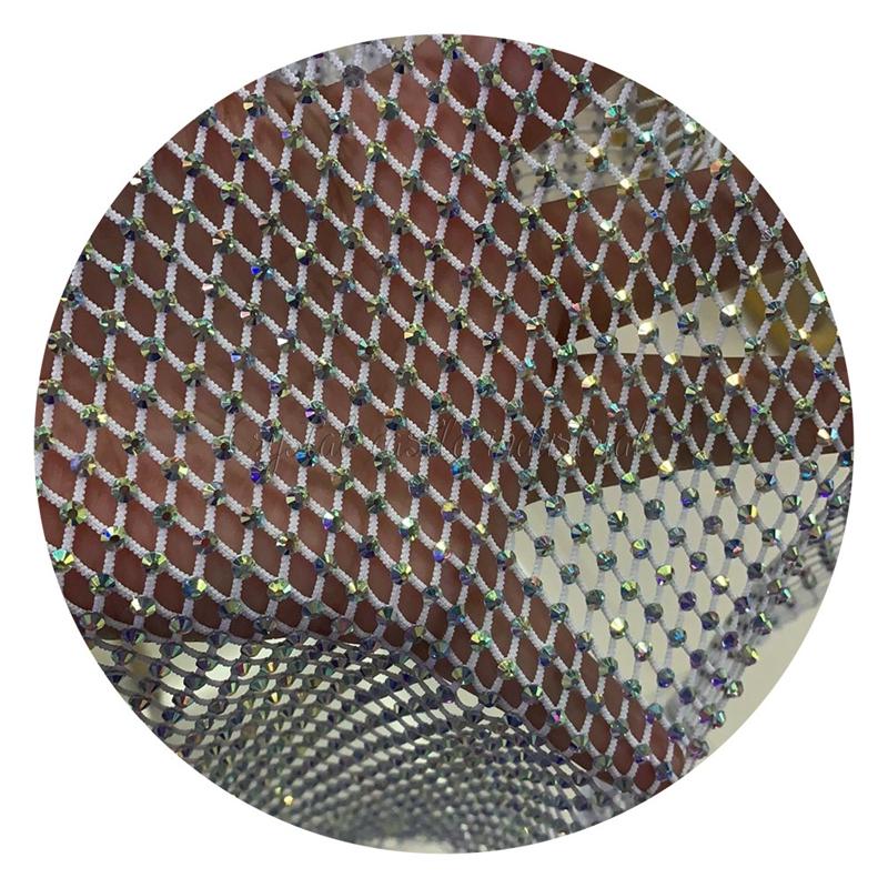 新ストレッチラインストーンメッシュトリム白糸 SS16 ミックスカラーガラス用ラインストーンクリスタル衣装靴バッグ DIY
