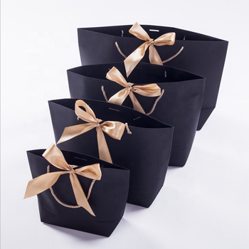 2019 Luxury Custom Paper Shopping Bag,OEM Shopping Paper Bag,Cheap Gift Paper Bag with ribbon handle
