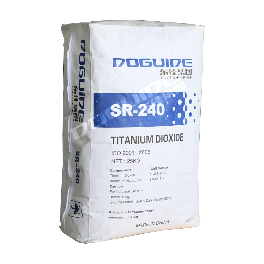 SR-240 is an inorganic and organic surface treated rutile titanium dioxide R240 designed to deliver excellent gloss and hiding