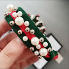 2019 super fashion girls accessories jewelry multicolor elastic pearl hair band rope