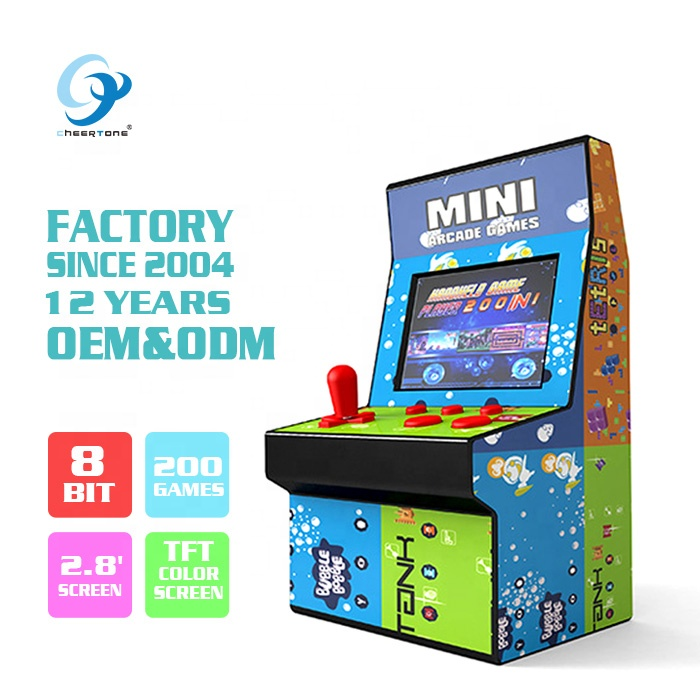 Groothandel Mini Bartop Arcade Machine Kopen Hand Held Handy Handheld Indoor Import Retro Vintage Video 8 Bit Games Console voor kids