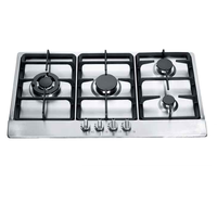Top quality metal knob built-in gas cooker hob