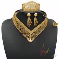 plated gold artificial temple necklace jewelry sets 2 gram light weight gold jewellery sets