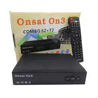 Have Stocks africa Onsat3 On3 DVB-S2/T2 Combo mepg4 decoder with Tcam account open French channel satellite receiver