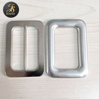Belt buckle manufacture supply 2 inch aluminum belt buckle blank for belt garment square buckle Colorado 2F