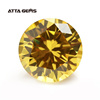 Atta Gems Synthetic Yellow Cubic Zirconia Round Gems
