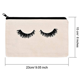 Ginzeal Wholesale Custom Logo Blank Canvas Cosmetic Bag