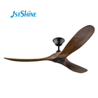 Best quality 60 inch energy saving dc motor 30w natural wood blades modern deluxe decorative ceiling fan without light