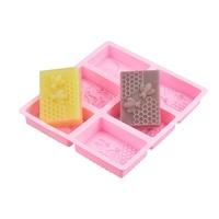 SILIKOLOVE Honey Bee Silicone Soap Mold diy Handmade Craft 3d Soap Mold Silicone Rectangular Oval 6 Forms For Soap Making