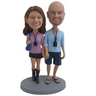 customized bobble head base on photo souvenir gift for wedding souvenir wedding return gift