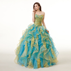Sweetheart Colorful Ruffles Wedding Dress With Color Crystal Bridal Gowns In Stock Robe De Mariage