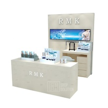 Fashion Perabotan Komersial Makeup Kios Rak Gondola Toko <span class=keywords><strong>Kosmetik</strong></span> Display Counter Desain