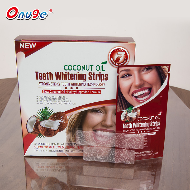 Professionele tanden whitening leverancier onuge whitening strips gratis monsters