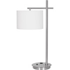 brushed nickel iron desk lamp hotel lighting modern lighting with USB power outlet for hotel