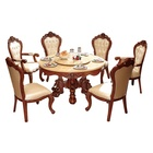 Furniture Dining Room Antique design round dinning table and chairs