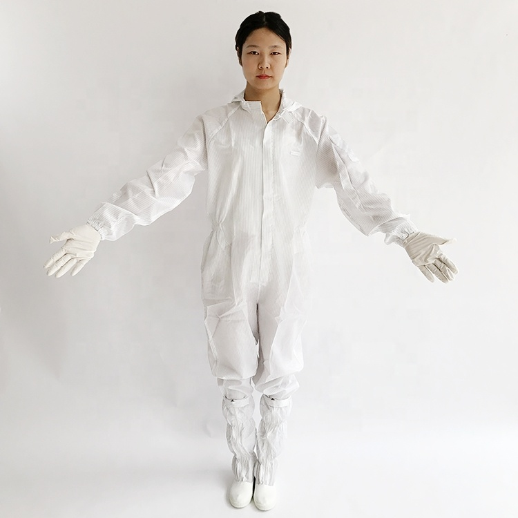 Antistatic ESD Cleanroom Workwear लबादा कपड़े