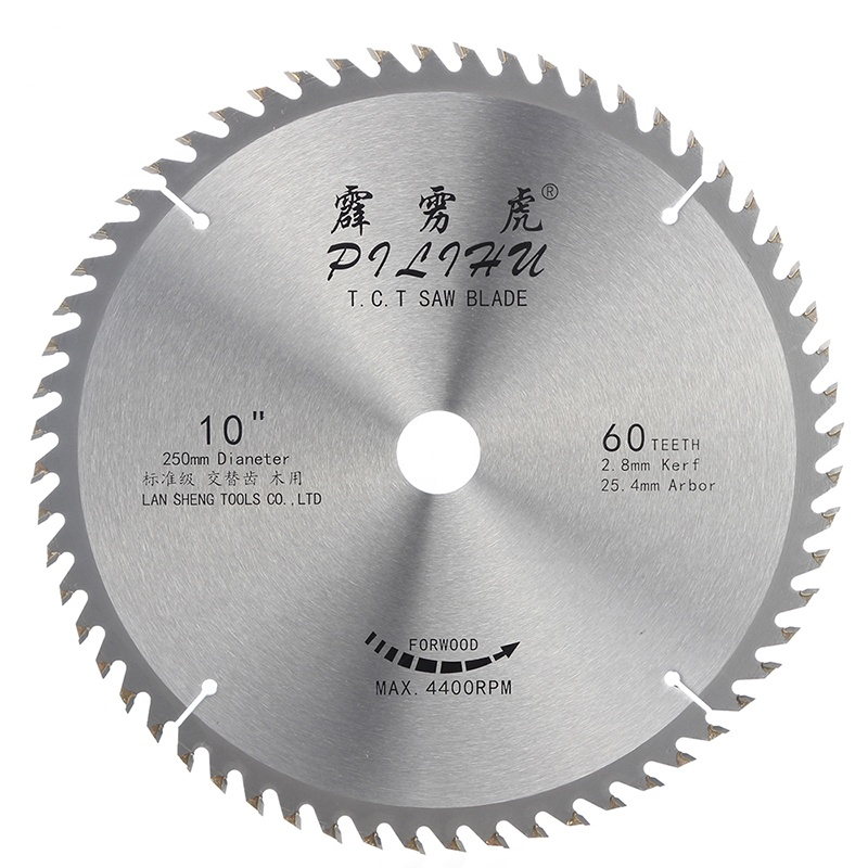High Quality 250mm 60T TCT Wood <strong>Cutting</strong> Saw Blade For Woodworking Machines
