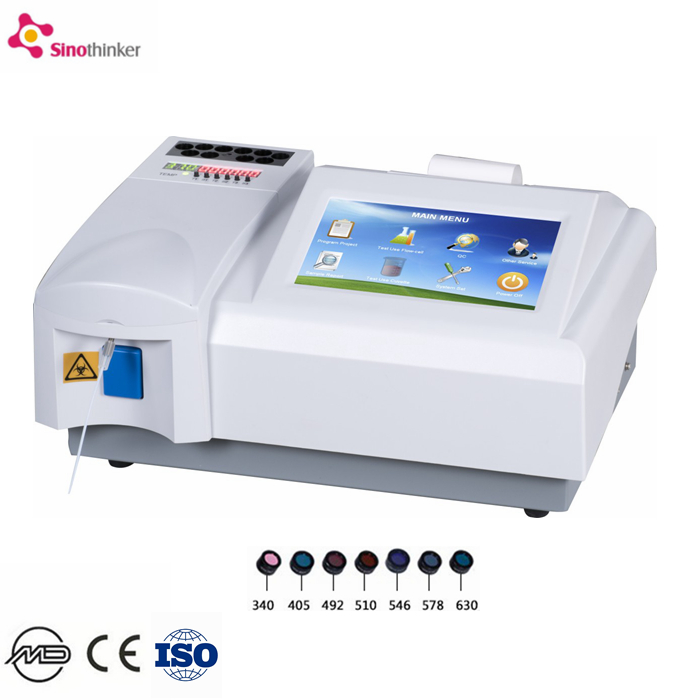 Gezondheid diagnose semi auto biochemie analyzer Kleur screen draagbare chemie analyzer medicalequipment bloed chemie