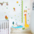 Monkey Giraffe Measure Wall Stickers for Kids Rooms Growth Chart Sticker