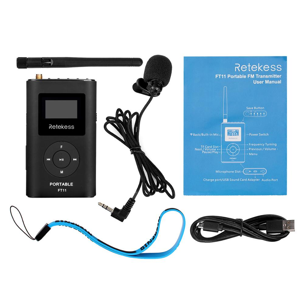 Long distance Handheld FM Radio Transmitter MP3 Broadcast 150M For Car Meeting