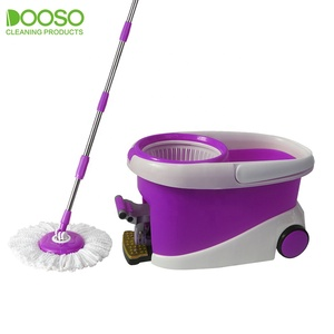 cleanroom moveable 360 rotating round head spin magic microfiber mop as seen on TV
