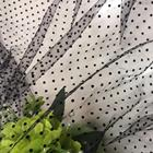 Plain Heart Polka Dot Flock Mesh Fabric