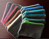 Colored Cotton Canvas zipper Pouch for Coin Purse, Wallet