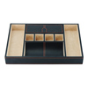 Modern Leather Valet Organizer Tray in Storage Jewelry Tray