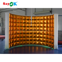 portable photography tent gnw wedding stage decoration led light cube big size led inflatable photo booth wall