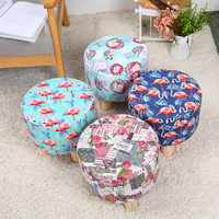 manufacture popular rustic vintage floral printed colorful cushion stool