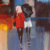 Street pedestrian umbrella building scene Mdf Oil Painting Wall Art Canvas Hand Painted