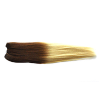 Top quality cheap real human hair blended natural wave hair extensions colors available