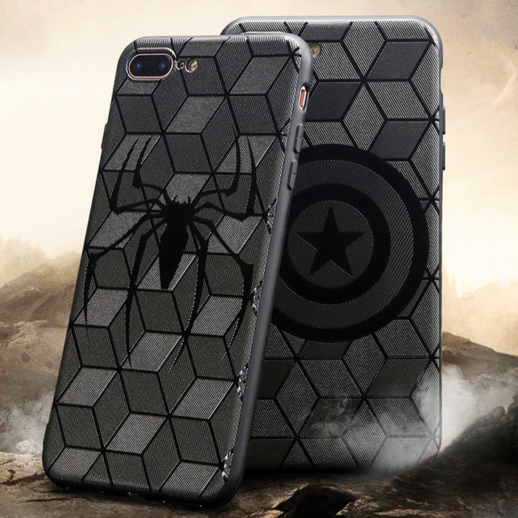 <strong>Hot</strong> sell super hero avengers 3d soft tpu phone case for iphone