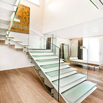 contemporary Professional Customized Building Staircase Straight Stair Design Staircase for sale suit man best order