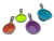 Amazon hot sale adjustable silicone measuring cup set of 4