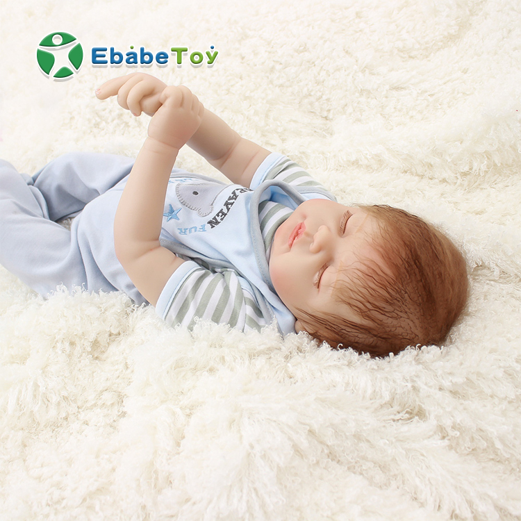 2019 22inch hot sell PVC Handmade silicon material life-like cute silicone reborn baby <strong>doll</strong> for hot sale