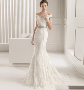 High quality good sale Illusion wedding dress for bride