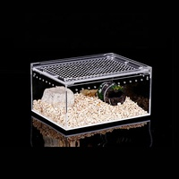 Faxctory custom square clear pmma plexiglass High quality reptile cage for reptile and turtle breeding and display