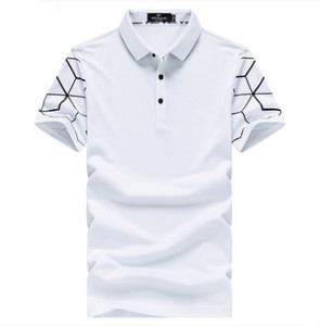 High quality plain pk polo t-shirt men with custom printing sleeve