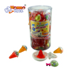 Jar packing 30g mix fruit flavors cone shape toy jelly pudding