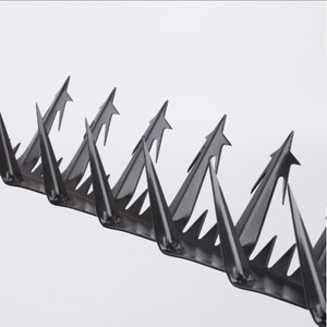 Wall spike system security for gates and chain link fence