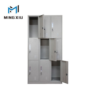 High quality metal 3 tier locker 9 door school locker steel clothes locker cabinet