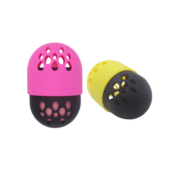 Travel Beauty Carring Case Silicone Makeup Sponge Holder With Lid