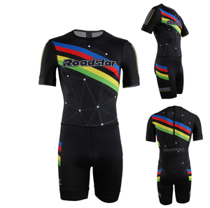 Custom made sport inline speed skates suit short sleeve suit /skinsuit