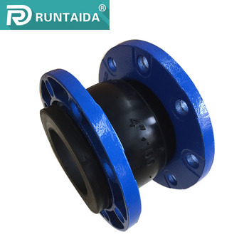 Iron flexible connection single sphere rubber expansion joint